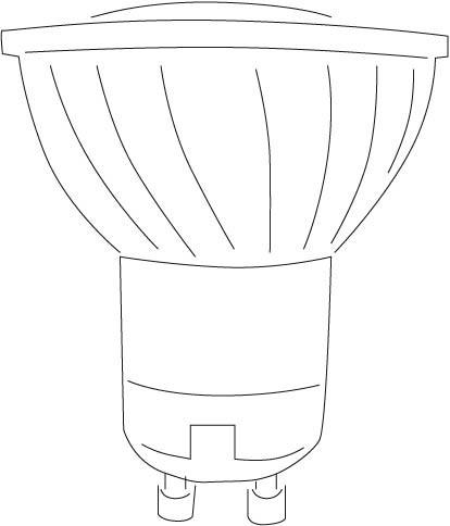 LED GU 10-4W