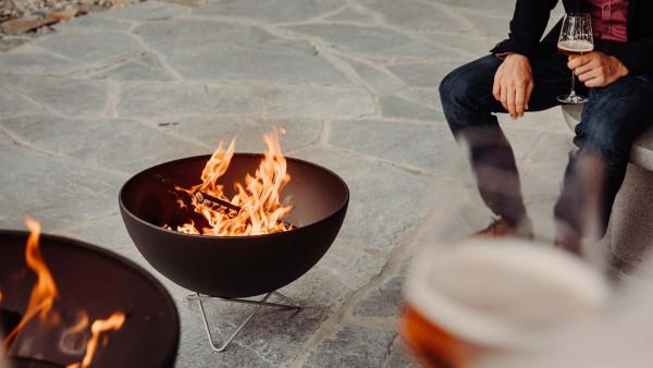 Bowl - Feuerschale mit Drahtfuß