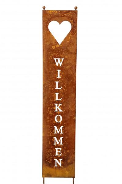 """Stele Schild """"Herzlich Willkommen"""""""